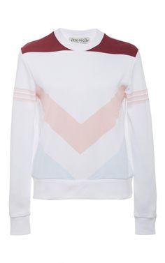 Chevron Slim Fit Sweatshirt by êTre CÉCile Now Available on Moda Operandi