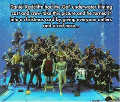 Funny HARRY POTTER Christmas Card