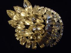 Vintage Kramer Rhinestone Brooch Large Big Bold by MartiniMermaid, $68.50