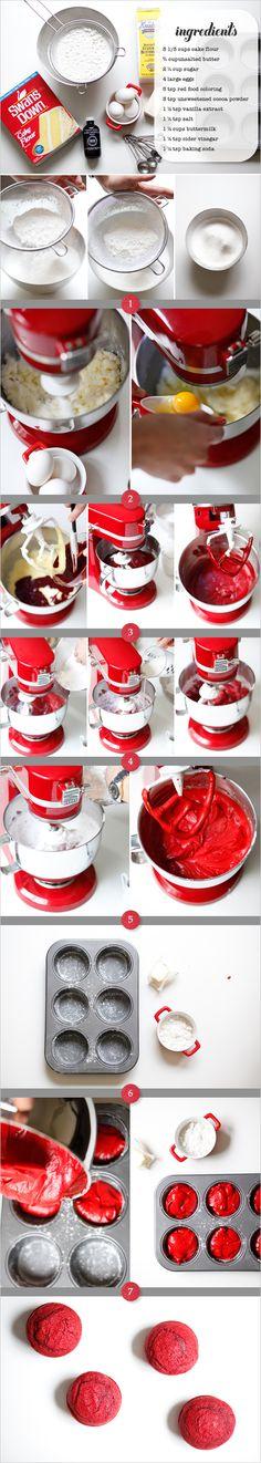 red velvet cake & cream cheese frosting recipe
