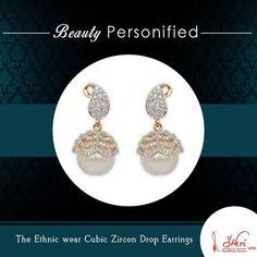 The Enchanted Cubic Zircon Drop Earrings By Sthrielite