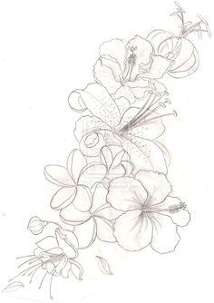 Flower Tattoo by Metacharis.deviantart.com on @deviantART