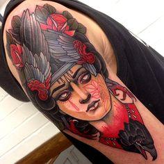 Raven girl old school