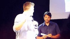 I'd cry and collapse into a puddle void of logic and reason if Misha Collins looked at me like that