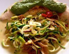 Pute & Zucchinettis mit Spinatpesto