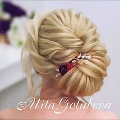 Do you wanna see more fab hairstyle ideas and tips for your wedding? Then, just visit our web site babe! Medium Hair Styles, Short Hair Styles, Braided Hairstyles, Wedding Hairstyles, Hair Upstyles, Box Braids Styling, Updo Styles, Braided Updo, Hair Videos