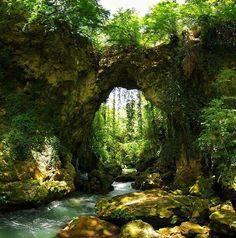 Natural Bridge, Epirus, Greece photo via stella