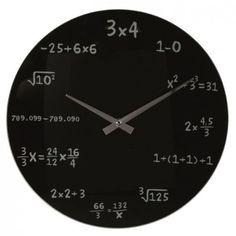Wanduhr-Mathe-Uhr-mathematische-Formeln-Mathematic-Mathematik-Matheaufgabe-Glas