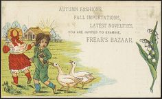 Autumn fashions, fall importations, latest novelties. You are invited to examine Frear's Bazaar. [front] | Flickr - Photo Sharing!