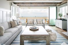 This oh-so-soothing oceanfront home was designed by one of my favorites: Newport Beach, California interior designer Brooke Wagner! Her talented team worked with William Guidero Planning and Design…