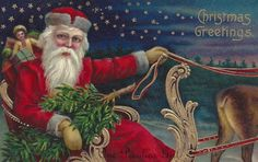 Antique Christmas Postcard of a Santa Claus on by OnePeculiarGirl, $0.99