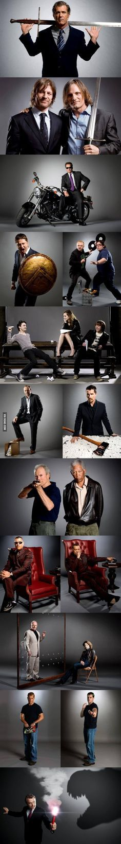 Actors recalling their best roles . . . in order: Braveheart, LOTR Fellowship, Terminator 2, 300, Shaun of The Dead, Harry Potter Saga, Se7en, American Psycho, Unforgiven, The Matrix, Silence of The Lambs, Bourne Identity, and Jurassic Park