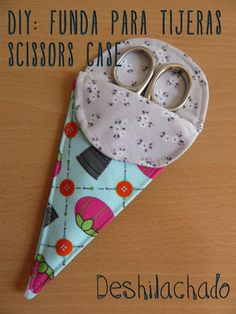 Deshilachado: Tutorial: funda para tijeras / Tutorial: scissors case