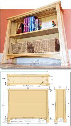 Curvy Bookcase Plans - Furniture Plans and Projects | WoodArchivist.com