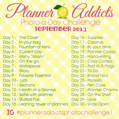 30 Day Photo Challenge for ABFOL Planner Addicts