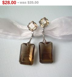 Japanese Pagoda Intaglio Screw Back Earrings-Vintage Sterling Silver-Carved Etched Quartz or Glass-Traditional Japan Asian Womens Jewelry by CougarCoveFineGifts on Etsy https://www.etsy.com/listing/261585694/japanese-pagoda-intaglio-screw-back