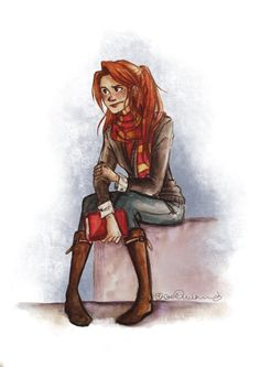 Ginny, Can I say I loved that she and Harry ended up together, there romance, there lives, they both fit each other perfectly.