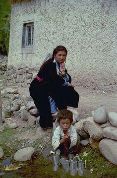 Tibetan woman and child