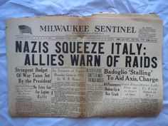 1943 WWII newspaper Nazis