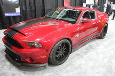 """The Shelby GT500 """"Super Snake"""" on show at the 2013 Detroit Auto Show. #Mustang #Widebody"""