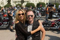 Harley-Tour-Charity: Yvonne Rueff, Alex List (c) ROBIN CONSULT, Mikes