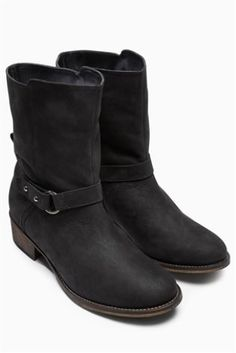 Buy Leather Plait Strap Boots online today at Next: Israel | Next ...