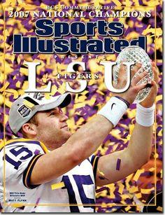 LSU Fighting Tigers BCS National Champions Quarterback Matt Flynn. January 7 2008