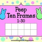 Ten Frames    Students use the peep counters to represent each number on the cards (1-30)...