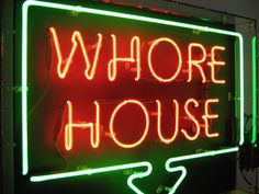 maybe not whore house, but I like the idea of neons in the flat Neon Words, Neon Aesthetic, Orange Aesthetic, All Of The Lights, Neon Nights, Neon Light Signs, Neon Lighting, My New Room, Signage