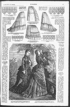 De Gracieuse. 1875, page 127  Bustle with button on petticoat  Pattern
