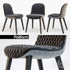 3d модели: Стулья - Poliform MAD Dining chair