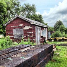 Old building at the train yard, Uxbridge, Ontario. #abandoned #heritage #old #decay #train #canadiannationalrailway #ontario #