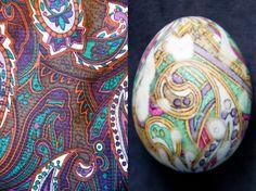 Silk Tie Dyed Eggs | DIY SIlk Tie Dyed Easter Eggs