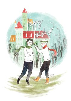 Gorgeous Simon and Baz holiday card from @macklauren. Thank you!