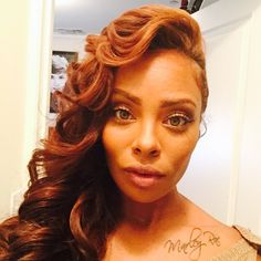 Eva Marcille Serving Face and Long Hair.. love the color