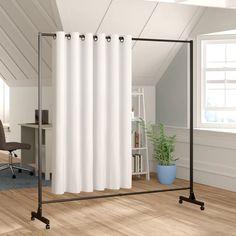 Room Divider Ideas Bedroom, Hanging Room Dividers, Room Divider Curtain, Panel Room Divider, Room Decor, Room Divider Walls, Diy Room Dividers Ideas, Dividers For Rooms, Wall Dividers