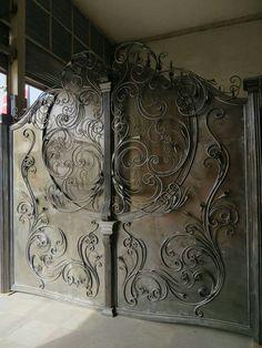 Wrought Iron driveway gate - beautiful!