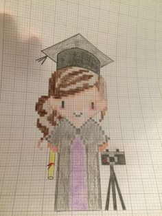 Graduation cross stitch design