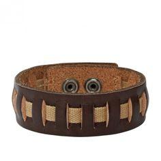 Fossil Armband * JF87297 * Herrenarmband Leder Stoff Braun Beige NEU #averdo…