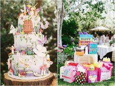 Bolo + tabela do presente de uma festa de aniversário Fada Enchanted via de Kara Idéias do partido KarasPartyIdeas.com (12)