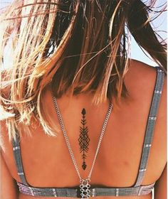 Simple Back Girls Tattoo
