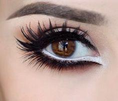 26 Stunning Makeup Shades For Brown Eyes - Part 11 White Eye Makeup, Eye Makeup Tips, Makeup Blog, Makeup For Brown Eyes, Smokey Eye Makeup, Love Makeup, Makeup Looks, Hair Makeup, Makeup Ideas