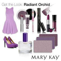 Produtos Mary Kay com os tons de roxo.