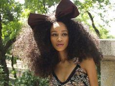 Stylish long natural hairstyles