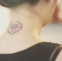 elmas dövmeleri ense neck diamond tattoos