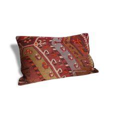 Housse de coussin en Kilim Turc Vintage #6 - Tissu - Bon état - Ethnique - 61746