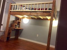 Choices intended for a loft bed space bunks loft bed plans, b Full Size Bunk Beds, Adult Bunk Beds, Kids Bunk Beds, Loft Beds, Stair Plan, Loft Bed Plans, Modern Bunk Beds, Bunk Beds With Stairs, Loft Spaces