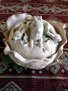 Antique 19th C Rabbit Tureen English