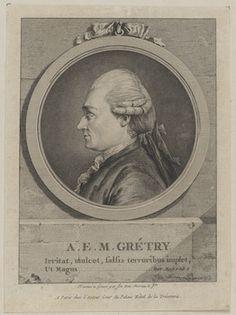 André Grétry (1741-1813), engraving (1772), by Jean-Michel Moreau (1741-1814).