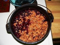 Pear-apple-blackberry cobbler